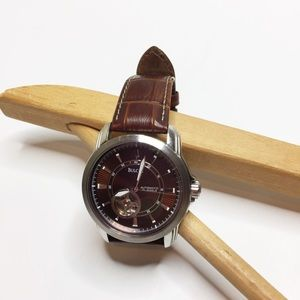 Bulova Men's watch brown leather stainless steel